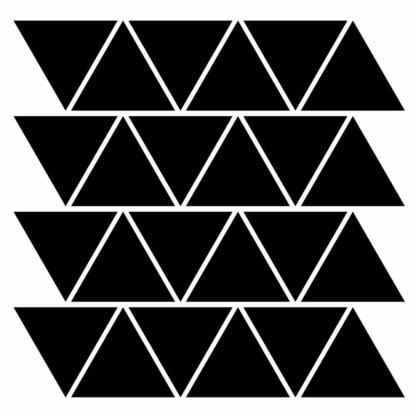 Bunni Triangle Decals - Black