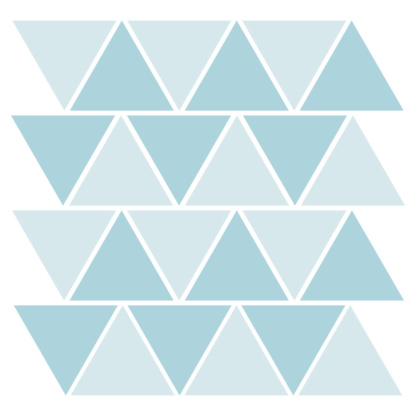 Bunni Two-Tone Triangle Decals - Light Blue