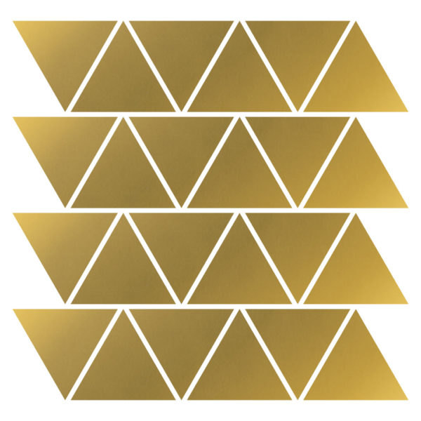 Gold triangles decals