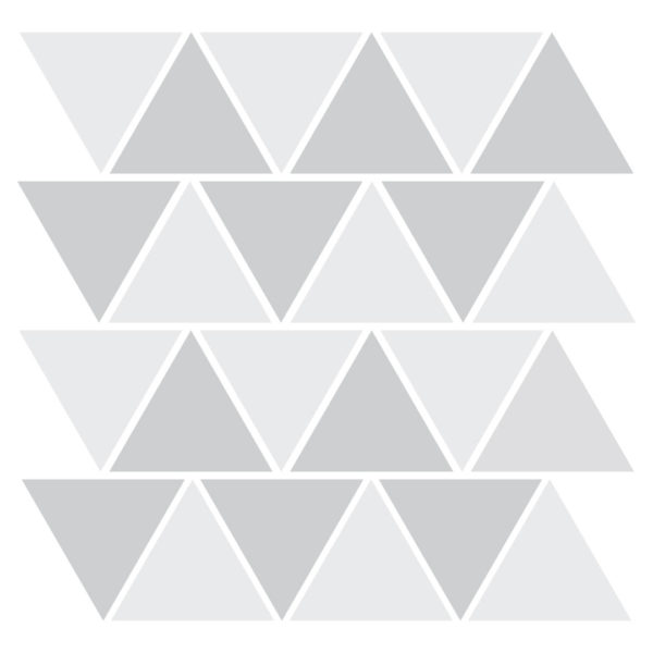 Bunni Two-Tone Triangle Decals - Grey