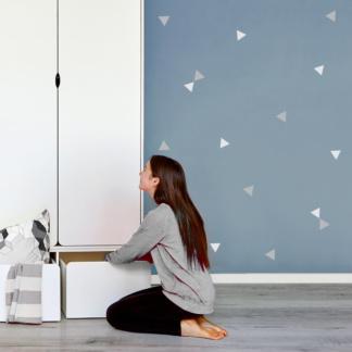Bunni Two-Tone Triangle Decals - Grey