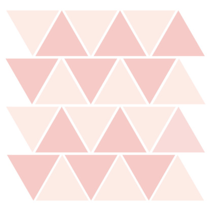 Bunni Two-Tone Triangle Decals - Light Pink
