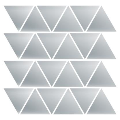 Bunni Triangle Decals - Silver