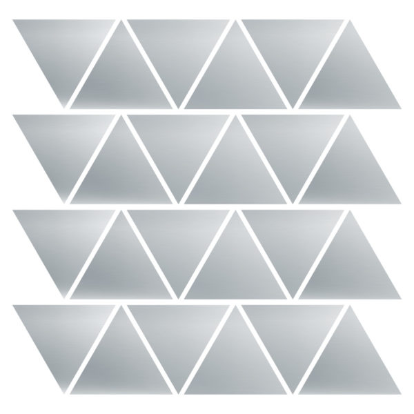 Silver triangles decals