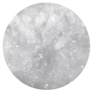 Watercolour Moon Decal - grey