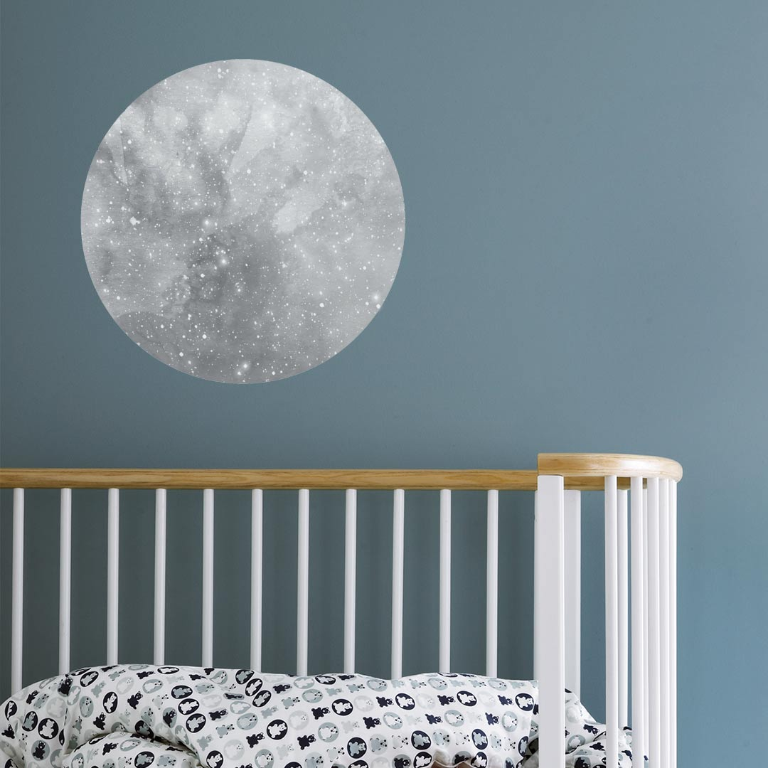 moon wall decal by bunni grey blue pink clever little monkey. Black Bedroom Furniture Sets. Home Design Ideas