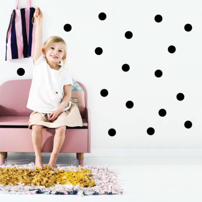 Bunni Wild Dots Decals - Black