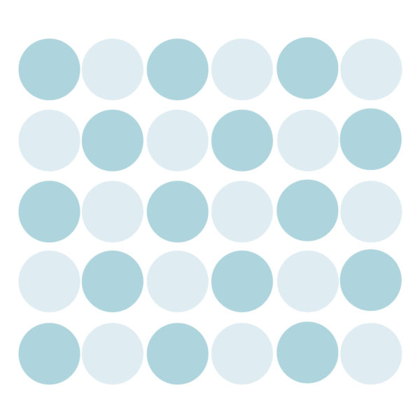 Bunni Wild Dots Decals - Light Blue
