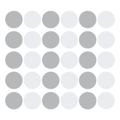 Bunni Wild Dots Decals - Grey