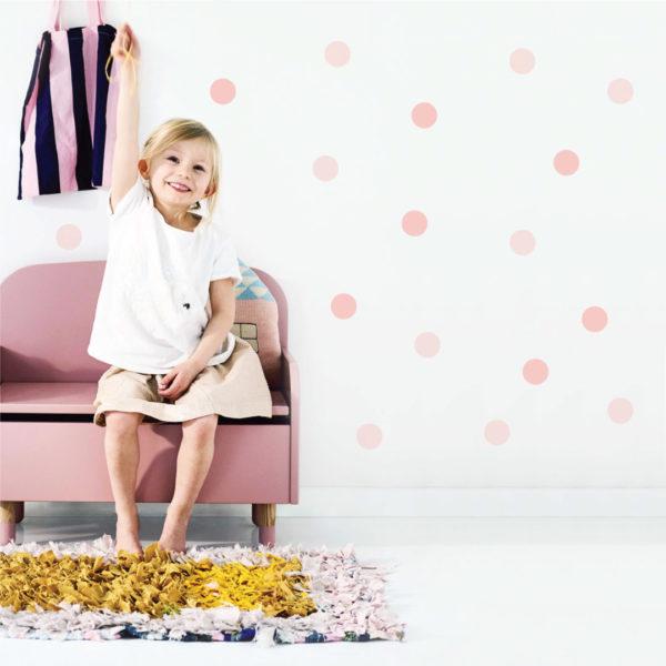 Bunni Wild Dots Decals - Light Pink