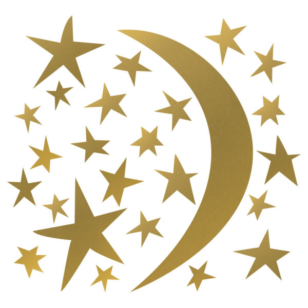 Bunni Whispy Stars Celestial Decals - Gold