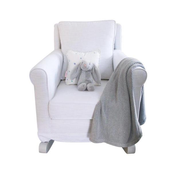 Trés Chic Rocker Chair - Arctic White