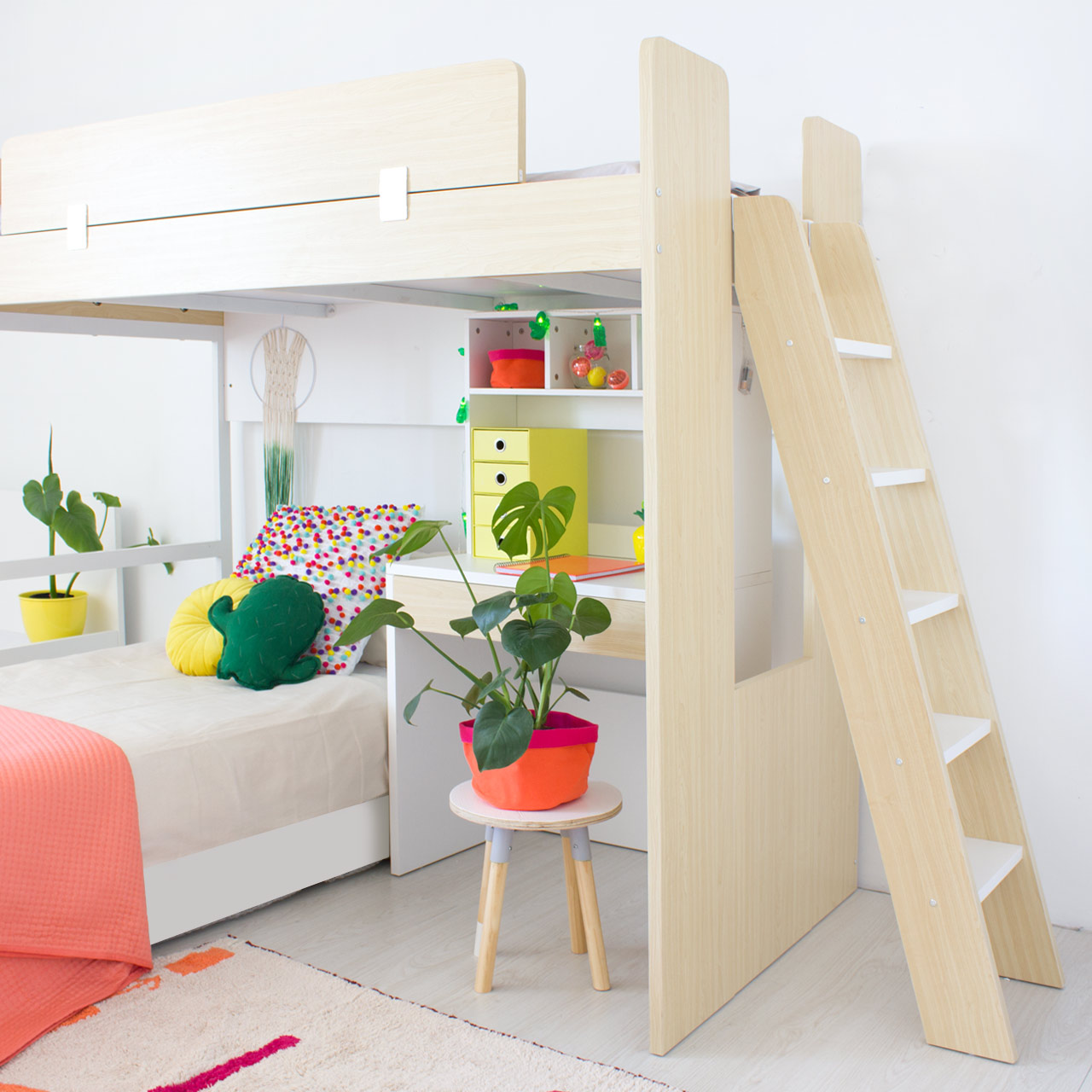 Bjorn Study Bunk Bed For Kids Clever Little Monkey