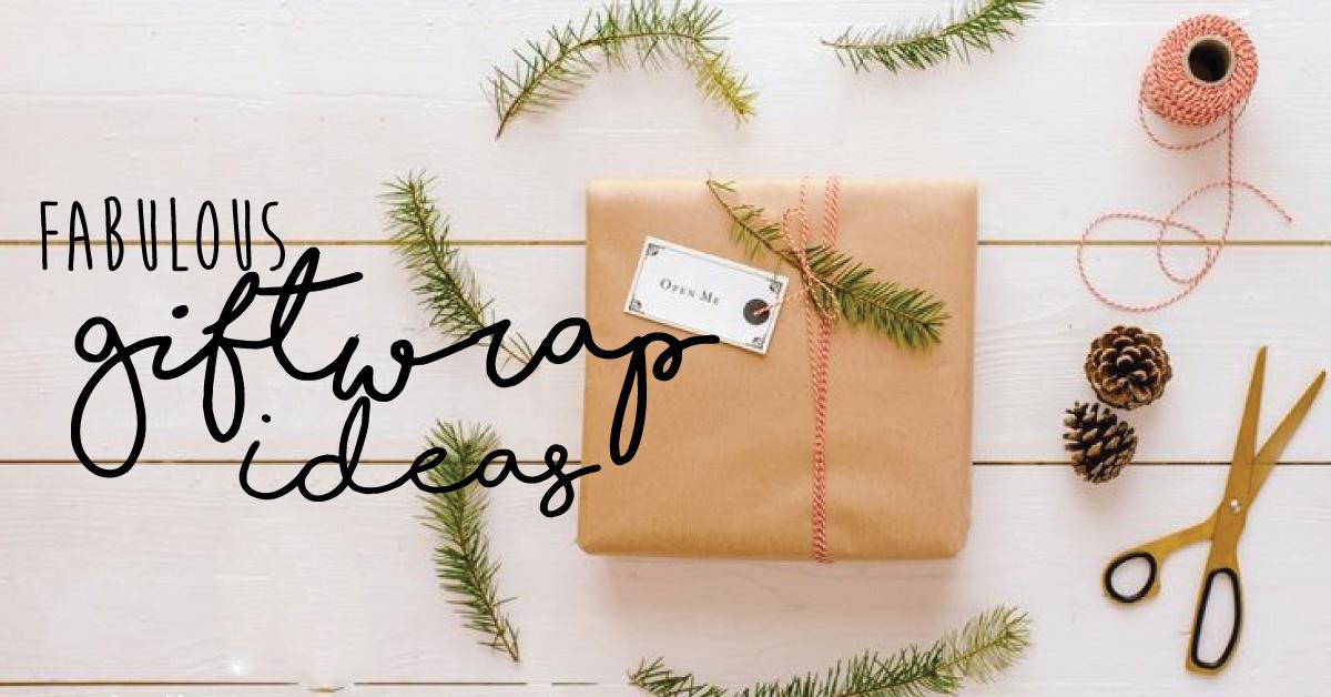 DIY: brown paper giftwrap