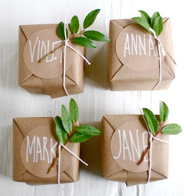 Brown paper giftwrap