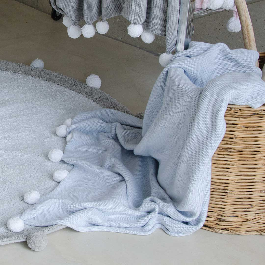 Bubbly Baby Blanket Soft Blue By Lorena Canals Clever