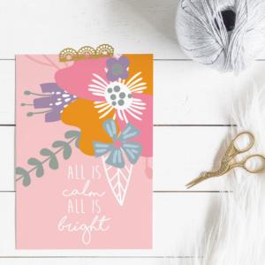 Floral Xmas Card