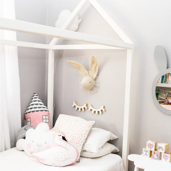 Olly Polly House Bed - Single White