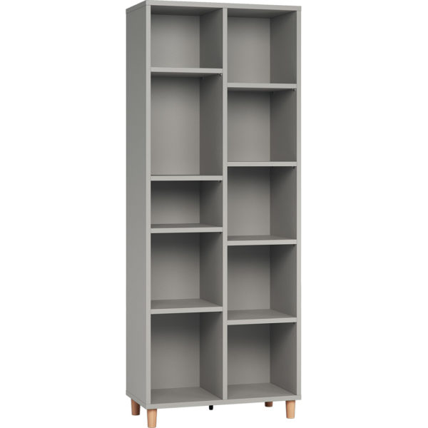 Simple Double Bookcase - Grey