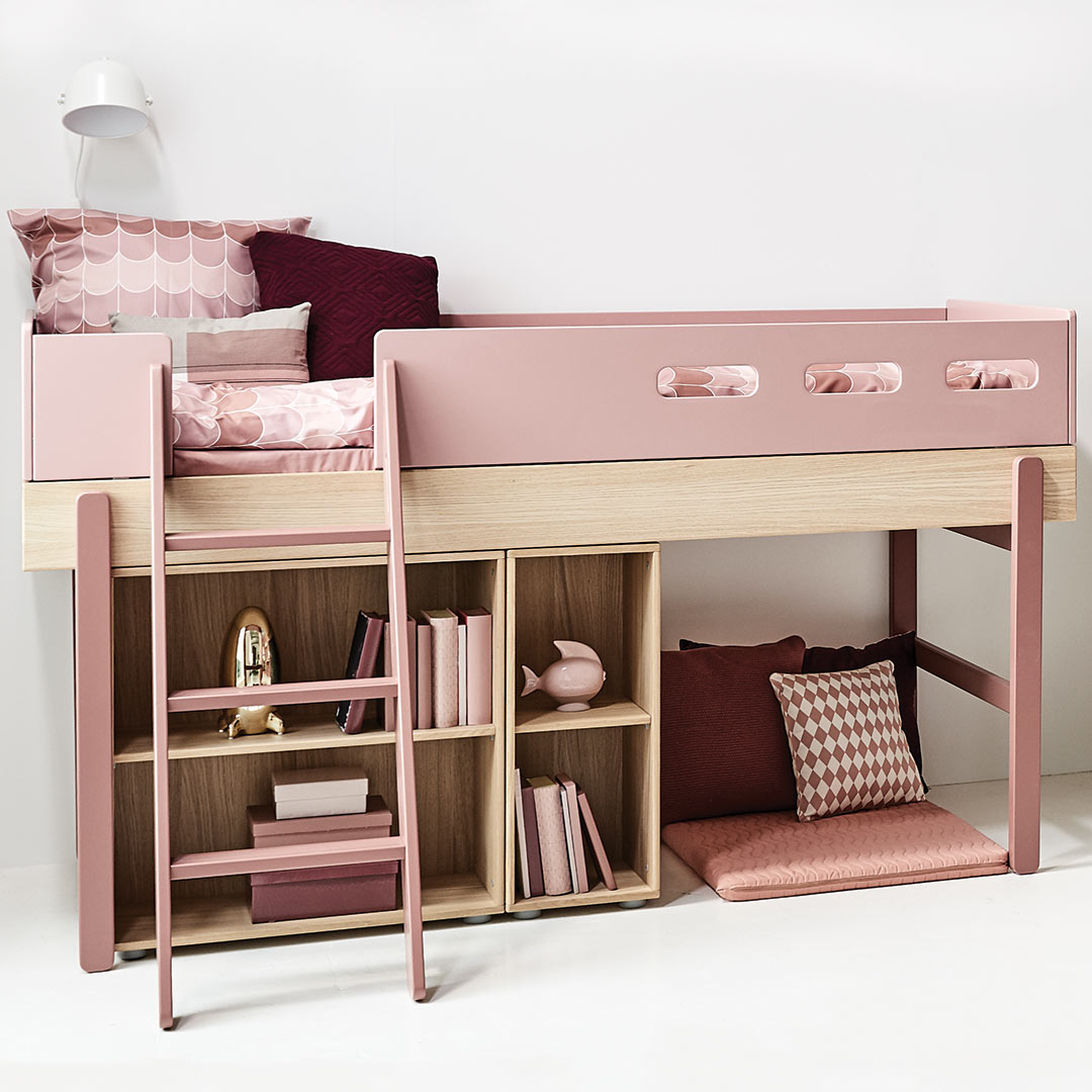 Popsicle Mid High Bed Cherry For Girls By Flexa Clever Little Monkey