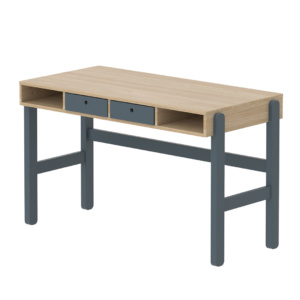 Flexa Popsicle Study Desk - Blueberry with Set of Drawers