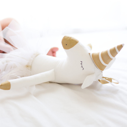 Fox & Moon Unicorn Doll - Gold