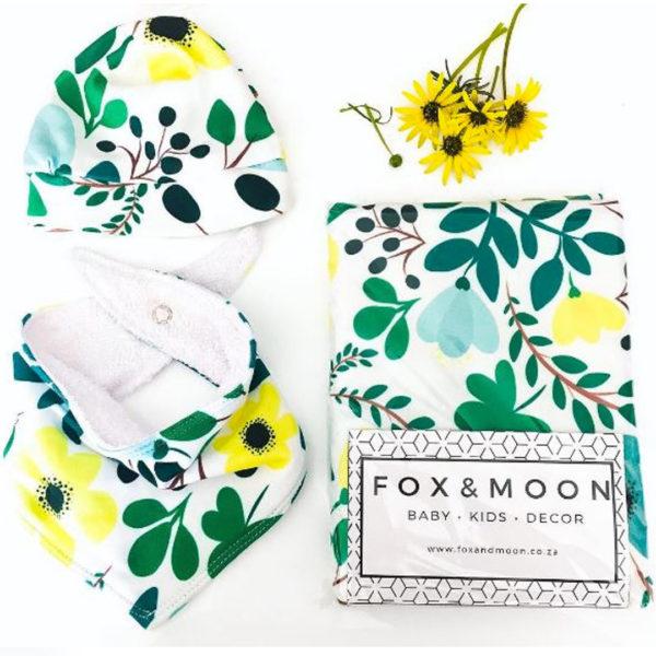 Fox & Moon Green Floral Gift Set
