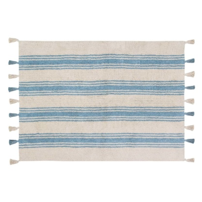 Lorena Canals Stripes Rug - Nile Blue