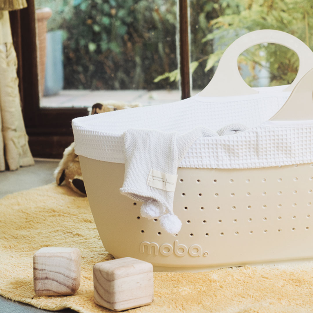 Moba Moses Basket, Mattress & Lining | Clever Little Monkey