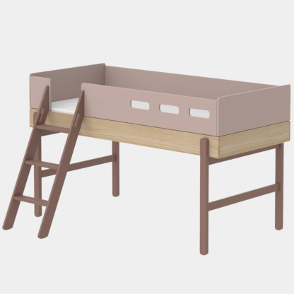 Popsicle Mid-High Bed - Cherry