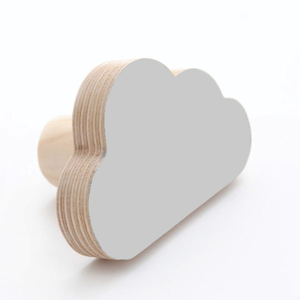 Simply Child Wall Hook - Cloud - Light Grey