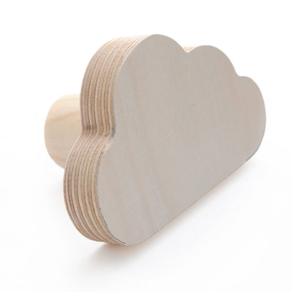 Simply Child Wall Hook - Cloud - Natural Birch