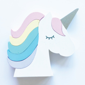 Squiggle & Squeak Unicorn Stacking Wood Toy