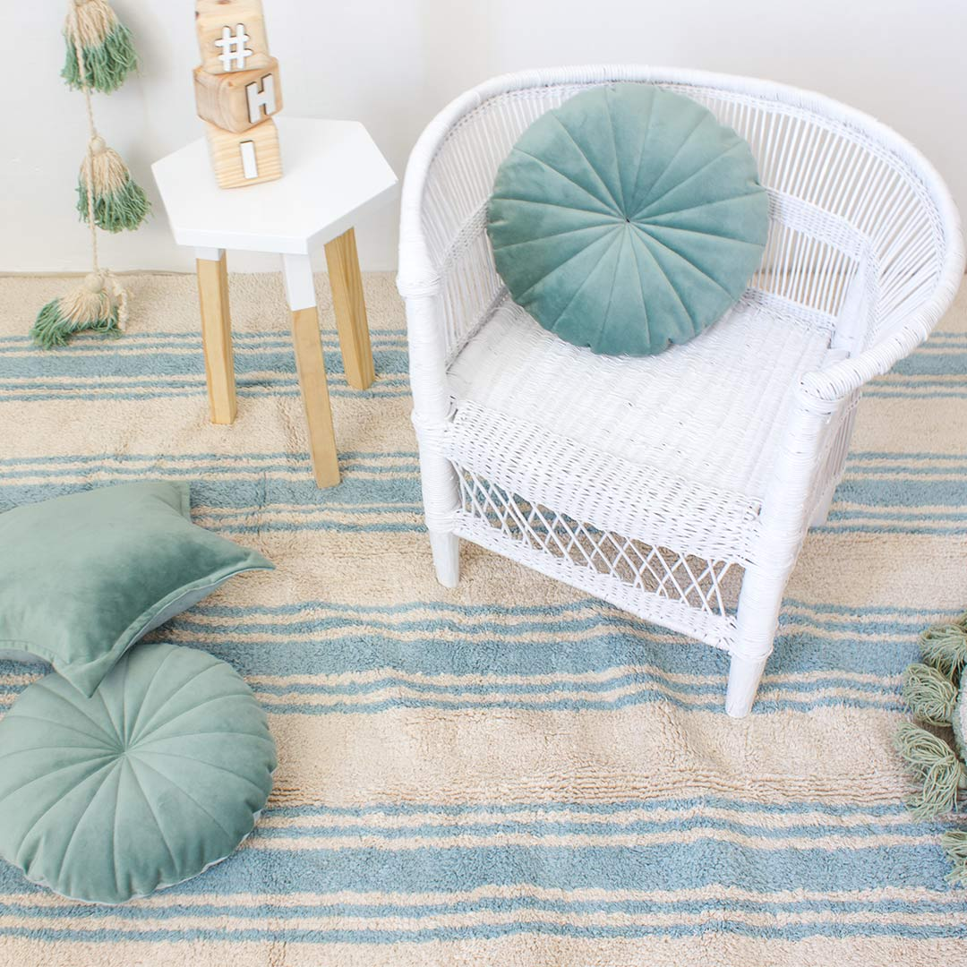 Stripes Rug - Nile Blue