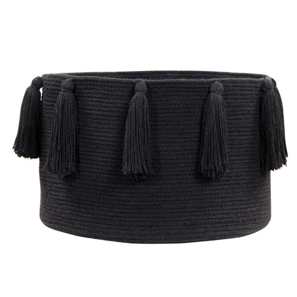 Tassel Basket - Black