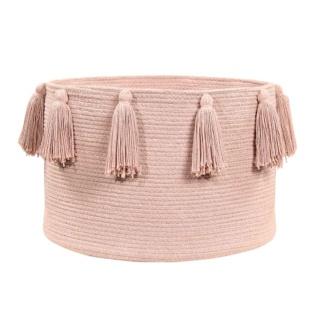 Tassel Basket - Vintage Nude Pink