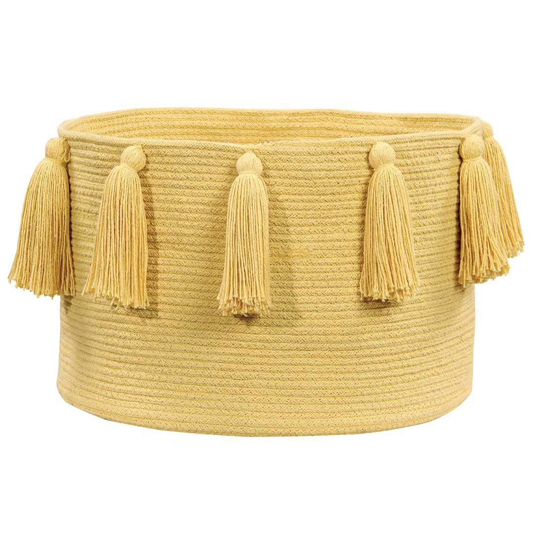 Tassel Basket - Yellow