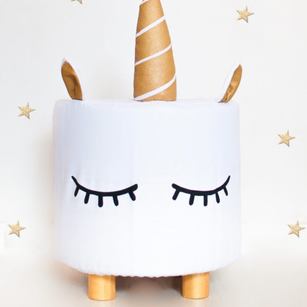 Fox & Moon Unicorn Kids Stool