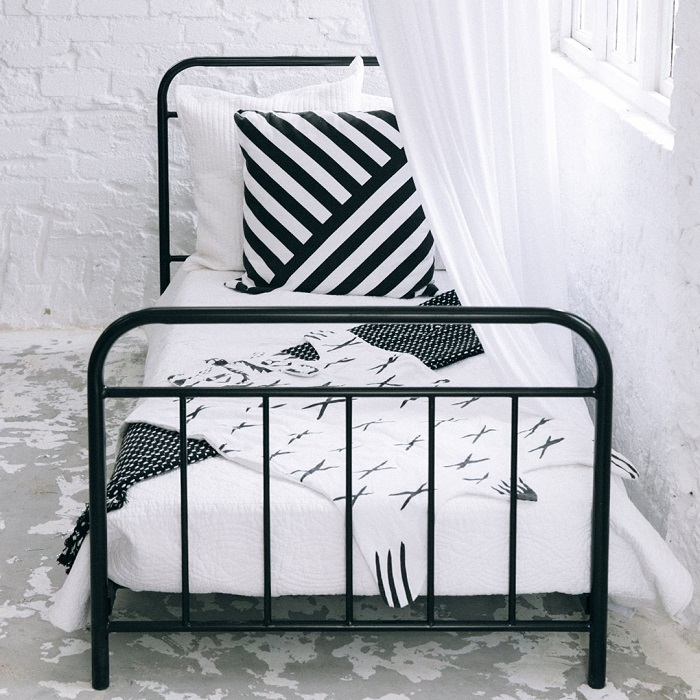 Get the Look - Scandi Style Teen Room - Metal Frame Bed