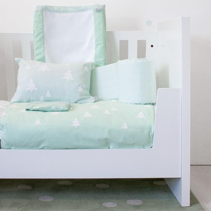 Get the Look - Seafoam Green - Bunni Skandi Pines Cot Set