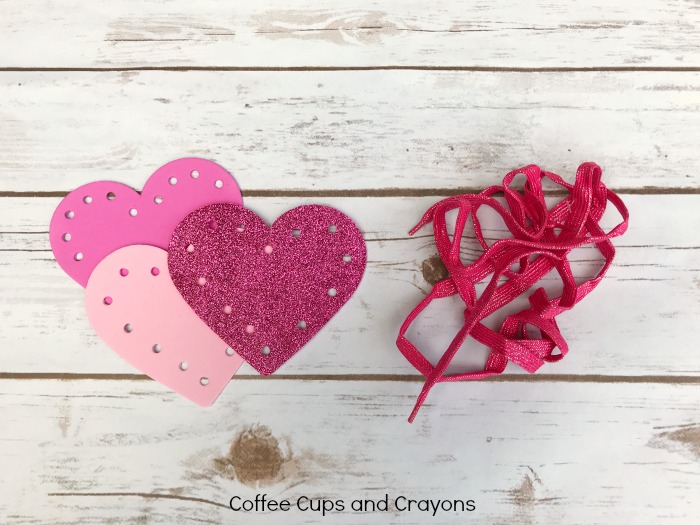 Valentines Day Activities for Kids - Heart Lacing