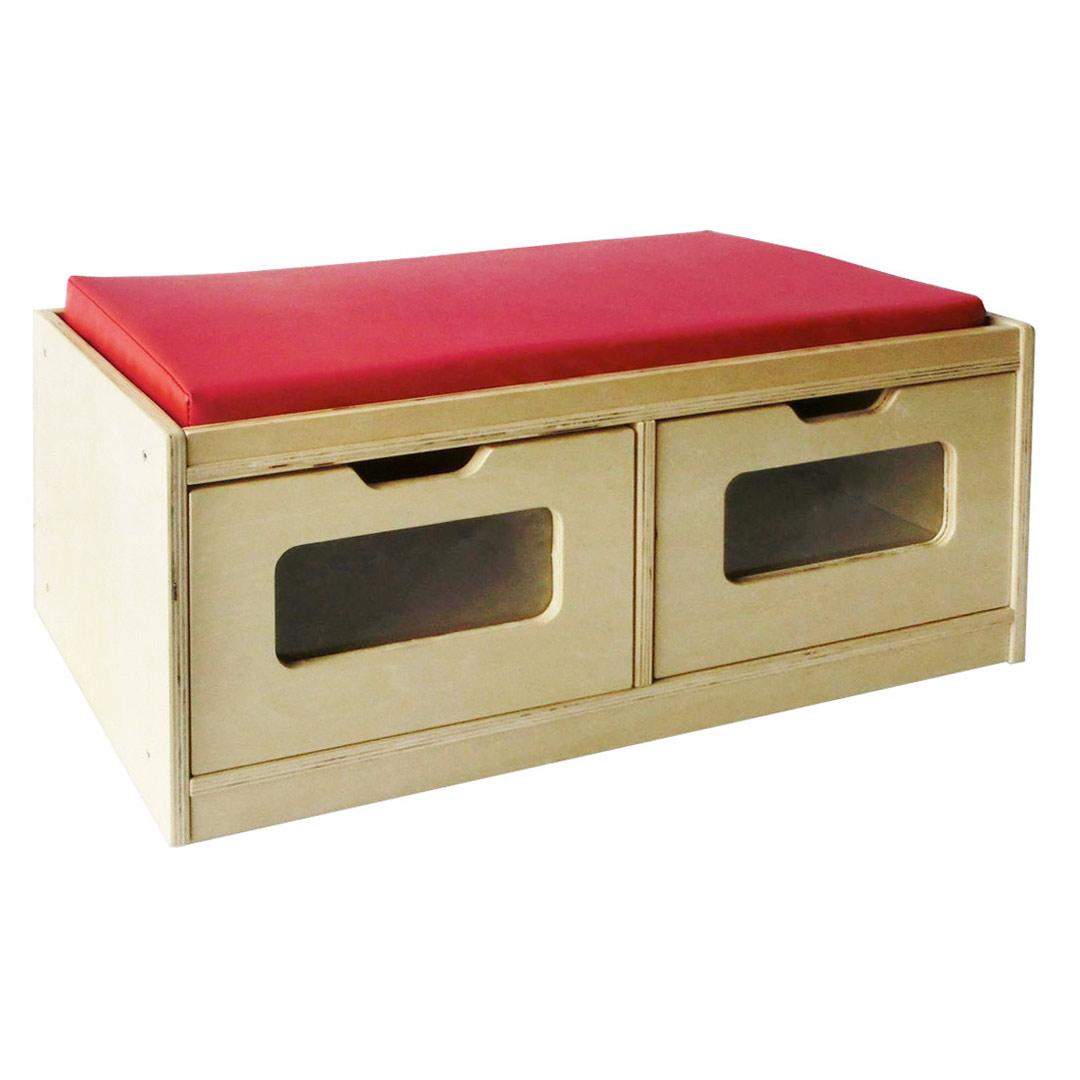 Toddler Bench Storage Unit