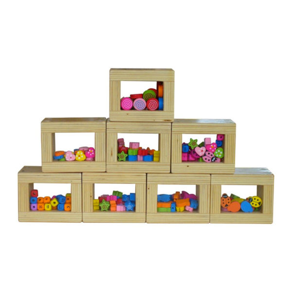 See-Through Blocks with Coloured Shapes
