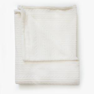 Bunni Cream Woven Fleece Baby Blanket