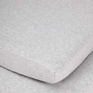 Lola & Peach Large Cot Fitted Sheet - Grey Melange