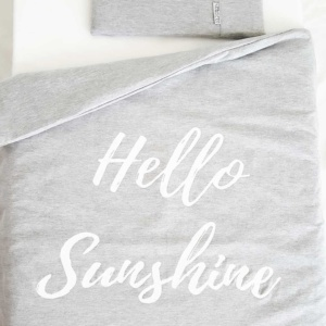 Lola & Peach Cot Duvet Set - Hello Sunshine Grey Melange