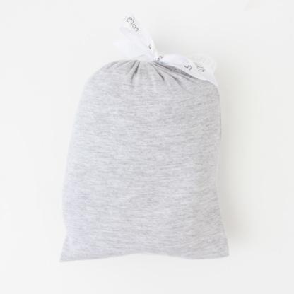 Large Cot Fitted Sheet - Grey Melange in Drawstring Bag