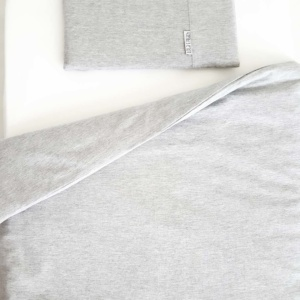 Lola & Peach Cot Duvet Set - Grey Melange