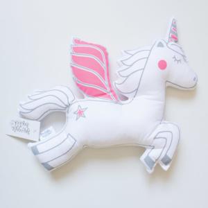 Squiggle & Squeak Neon Pink Unicorn Scatter
