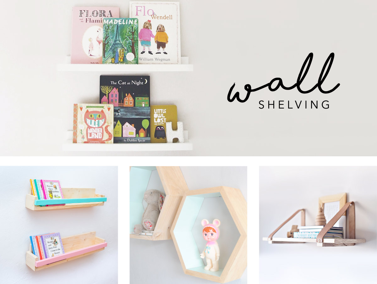 Wall shelves for kids rooms clever little monkey for Wall shelves kids room